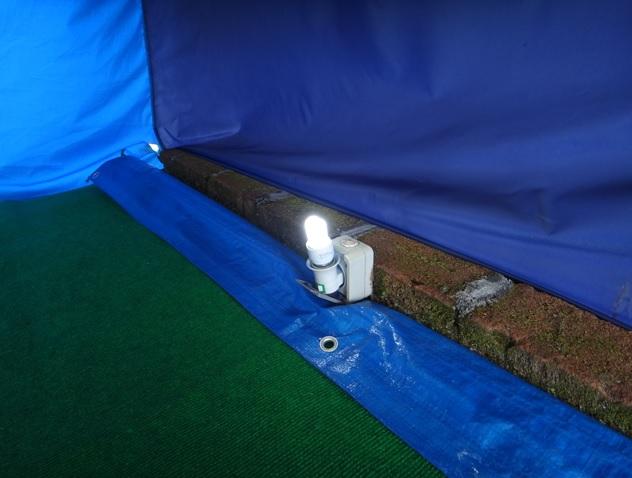 saluran listrik dalam tenda